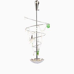Lámpara colgante Torino cromada de Artemide, años 80