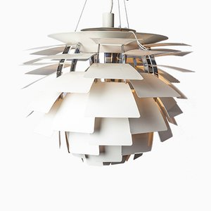 Lampe à Suspension PH Artichoke Blanche par Poul Henningsen pour Louis Poulsen, 1960s