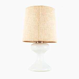 Weiße ML1 Tischlampe aus Muranoglas von Ingo Maurer, 1970er
