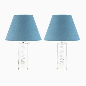 Glass Table Lamps from Daum, 1970s, Set of 2