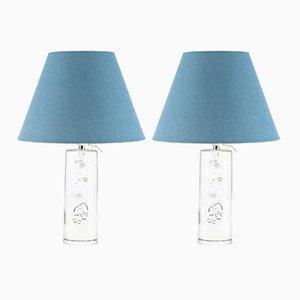 Tischlampen aus Glas von Daum, 1970er, 2er Set