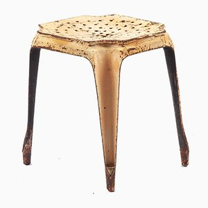 Industrial Metal Stool from Tolix, 1940s