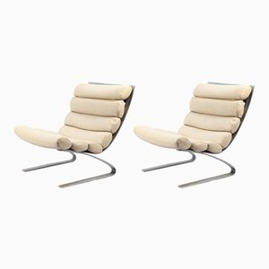 Sinus Lounge Chairs by Reinhold Adolf & Hans-Jürgen Schräpfer for Cor, 1970s, Set of 2