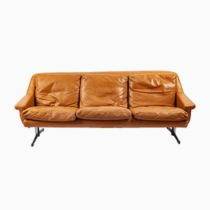 3-Seater Leather Sofa by Gustav Thams, 1960s