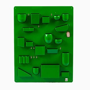 Portaoggetti da parete in plastica verde di Barbara Becker per Ingo Maurer, anni '70