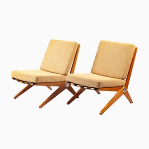 Lounge Chairs by Pierre Jeanneret for Knoll International, 1960s, Set of 2