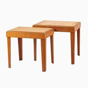 Tavolini ad incastro in compensato di Raak, Germania, anni '40