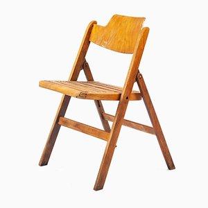 Sedia pieghevole in legno di Egon Eiermann per Wilde & Spieth, anni '50