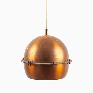 German Copper Pendant Lamp, 1950s