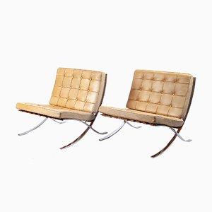 Sillas Barcelona de Ludwig Mies van der Rohe para Knoll International, años 60. Juego de 2