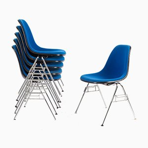 Fiberglass Stacking Chairs by Charles & Ray Eames for Vitra, 1970s, Set of 6