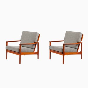 Easy Chairs by Grete Jalk for France & Daverkosen, 1960s, Set of 2