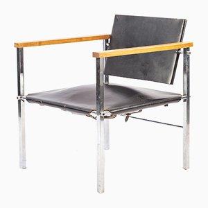 Kernlederstuhl Stuhl von Ernst Möckel für Wilde + Spieth, 1960er