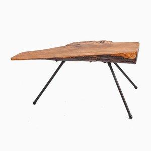 Mesa de centro austriaca de tronco de árbol, años 50