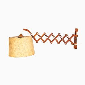 Lámpara de pinza danesa de teca, años 60