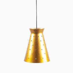 Lámpara colgante alemana dorada, años 60