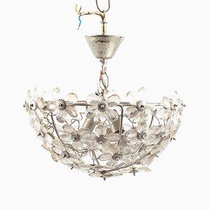 Lampe à Suspension Florale en Plastique de Doria Leuchten, 1970s