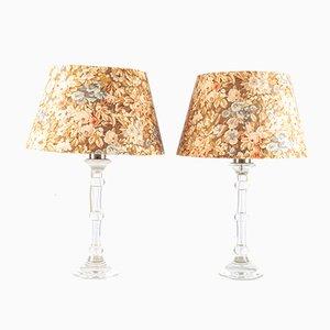 Lámparas de mesa de vidrio de Ingo Maurer, años 60. Juego de 2