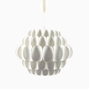 Lampe à Suspension Blanche de Temde, Suisse, 1960s