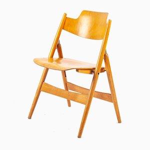 SE18 Beech Folding Chair by Egon Eiermann for Wilde & Spieth, 1960s