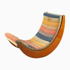 Relaxer Schaukelstuhl von Verner Panton für Rosenthal, 1970er