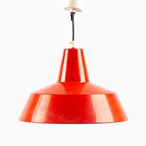 Lámpara colgante de metal rojo de Ikea, años 60