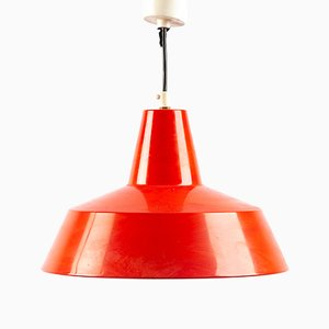 Lampe à Suspension en Métal Rouge de Ikea, 1960s