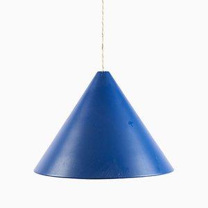 Lámpara colgante Blue Cone de Verner Panton, años 60