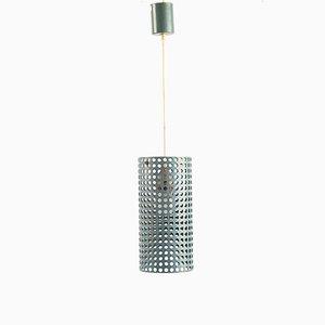 Lámpara colgante de metal perforado, años 60
