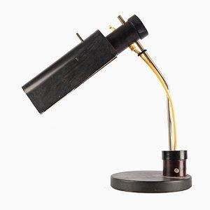 Schwarze ostdeutsche Schreibtischlampe, 1960er