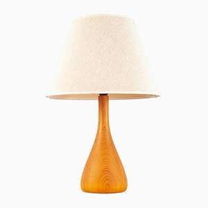 Lámpara de mesa danesa de teca, años 60