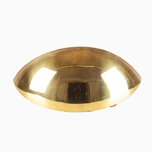 Italian Golden Demi Lune Wall Lamp, 1960s