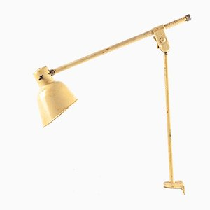 Lámpara de pinza alemana Bauhaus, años 30
