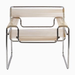 Wassily Chair with Spaghetti Seat by Marcel Breuer for Knoll International, 1970s