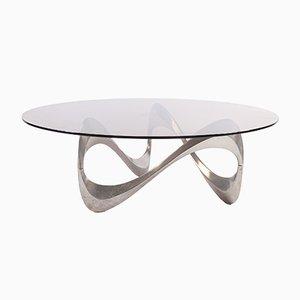 Tavolino da caffè Snake di Knut Hesterberg per Ronald Schmitt, anni '60