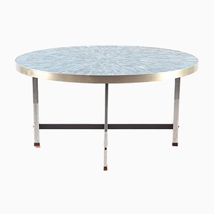 Tavolino da caffè blu mosaicato di Berthold Müller, anni '50