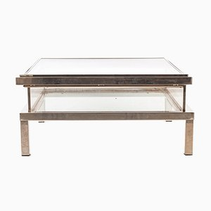 Plexiglas Coffee Table with Sliding Top from Maison Charles, 1970s