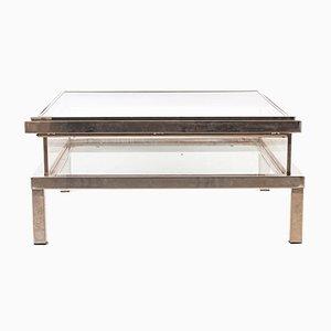 Table Basse en Plexiglas avec Plateau Coulissant de Maison Charles, 1970s