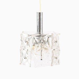 Lámpara colgante alemana de cristal, años 60
