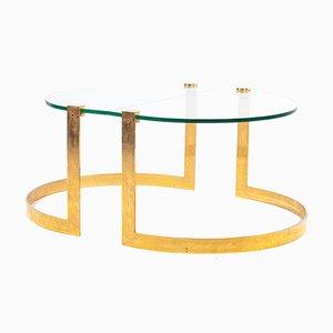 Mesas de centro doradas de Ronald Schmitt, años 70. Juego de 2
