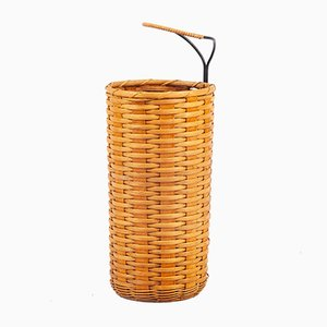 Viennese Wicker Umbrella Stand, 1950s