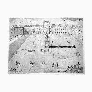 Eliografia La Grande Place des Vosges du Temps de Louis XIII di Salvador Dali per Bracons, 1973