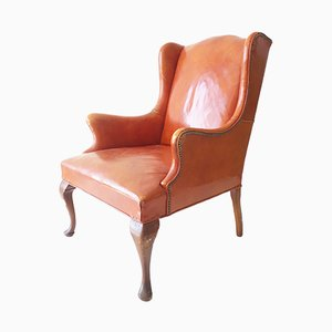 Vintage American Leather Armchair from Hickory Chair Co, 1950s
