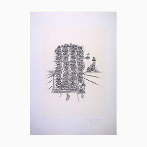 Serigrafia Genesi di Salvador Dali per Istituto Grafico Italiano, 1983