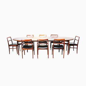 Danish Dining Room Set by Arne Vodder for Sibast, 1950s