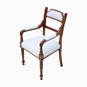 Antique Victorian Oak Armchair, 1880s