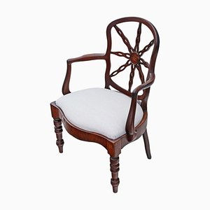 Antique Georgian Mahogany Elbow Chair