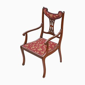 Antique Inlaid Mahogany Elbow Chairs, 1905, Set of 2