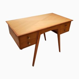 Vintage French Oak Double-sided Desk, 1950s