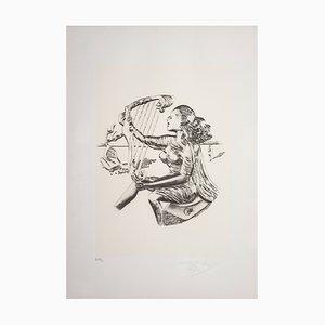 Sérigraphie Musica par Salvador Dalì pour Istituto Grafico Italiano, 1983